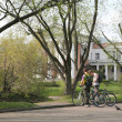 Bicyclists in Spring Park — Stock Photo