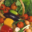 Stock Photo: Basket with Vegetable