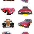 Red car collection - Stock Photo