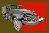 Armored car with Windlass — Stock Photo