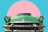 Vintage groene auto 60 — Stockfoto