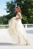 Girl in wedding gown — Stock Photo