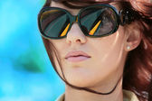 Gorgeous woman in sunglasses — Stock Photo