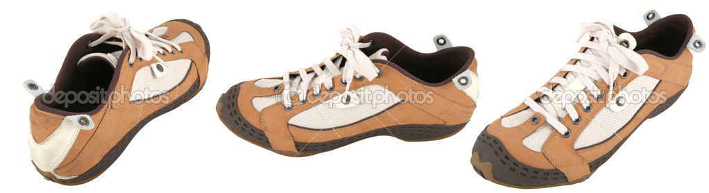 Frame, New Atheletic Footwear for Walks and Plays — Stock Photo #1410581