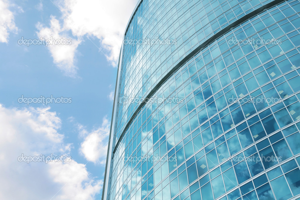 Skyscraper, high-rise office building from glass and metal — Stock Photo #1410790