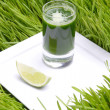 Fresh green juice - Stock Photo