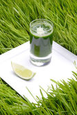 Fresh green juice — Stock Photo