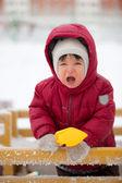 Toddler yells — Stock Photo