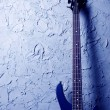 Blue bass guitar — Stock Photo