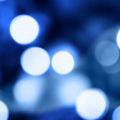 Royalty-Free Stock Photo: Blue holiday lights