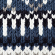 Woolen texture with pattern - Stock Photo