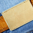 Royalty-Free Stock Photo: Jeans with blank label