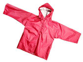 Red raincoat — Stock Photo