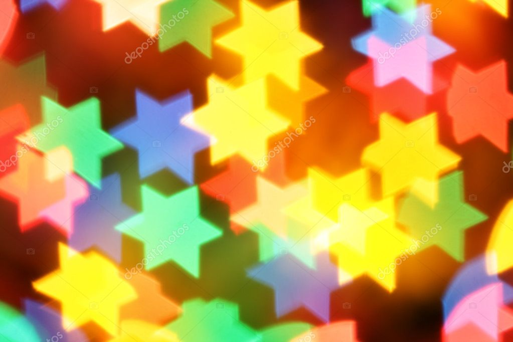 Colorful blurred stars, may be used as background  Stock Photo #1189419