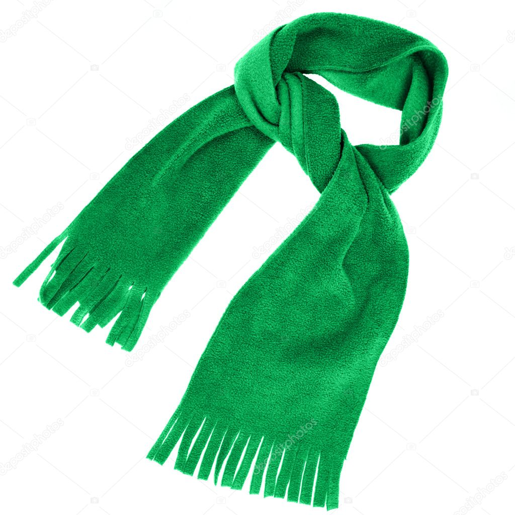 Scarf close up isolated over white background  Stock Photo #1189666