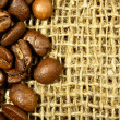 Royalty-Free Stock Photo: Coffee beans on sacking