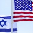 Stock Photo: Flags of USA and Israel