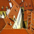 Old tiled roofs — Stockfoto