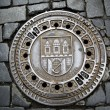 Foto Stock: Man hole cover