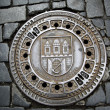 Man hole cover - Stock Photo