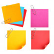 Royalty-Free Stock Photo: Blank colorful papers