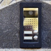 On-door speakerphone — Stock fotografie
