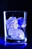 Ice in glass — Stock Photo