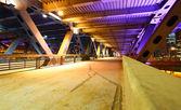 Bridge with illuminations — Stock Photo