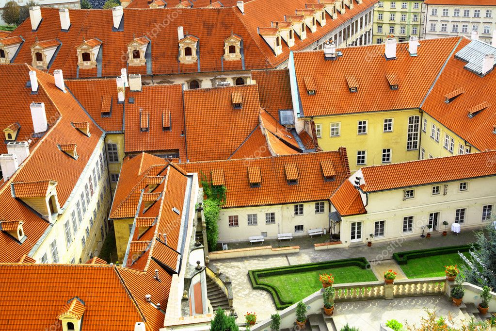 Old tiled roofs at Prague, Czech republic — Stock Photo #1190887