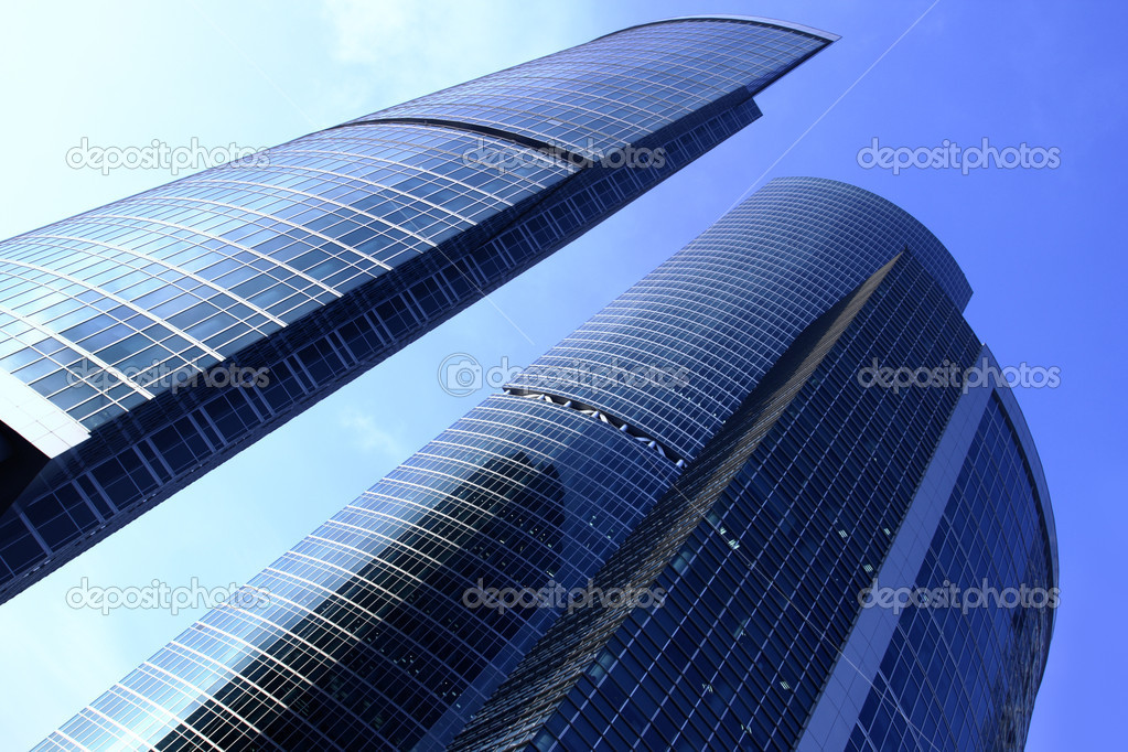 Modern skyscrapers close up. Moscow City. Russia. — Stock Photo #1191585