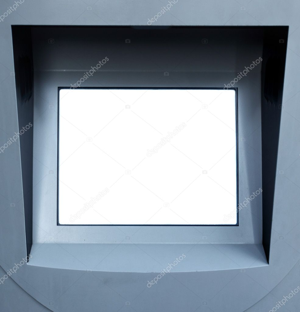 White blank informational screen,  put your own text here — Stock Photo #1193425