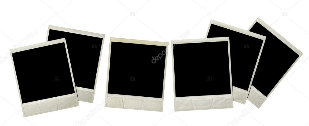 Instant photos isolated over white background — Stock Photo #1193967