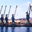 Quay cranes - Stock Photo