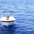White motor boat — Stock Photo #1416535