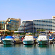 Stock Photo: Hotels and yachts