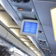 Stock Photo: interior of airplane