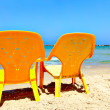 Chairs on beach — Stock Photo