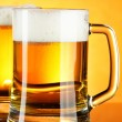 Beer mugs — Stock Photo