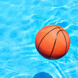 Ball at the swimming pool — Stok fotoğraf