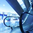 Stock Photo: Modern interior with escalator