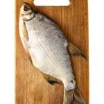 pêcher sur la planche à découper — Photo