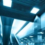 Interior with escalator — Stock Photo