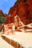 Ancient nabataean sanctuary at Petra — Stock Photo