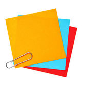 Blank colorful papers — Stock Photo
