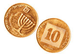 Copper coin of Israel — Stock Photo