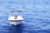 White motor boat — Stock Photo