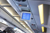 Interior of airplane — Stock Photo