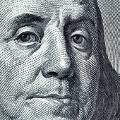 Benjamin Franklin portrait — Foto Stock