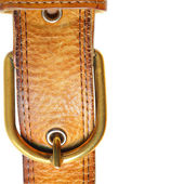 Leather strap close-up isolated over white background — Stock Photo