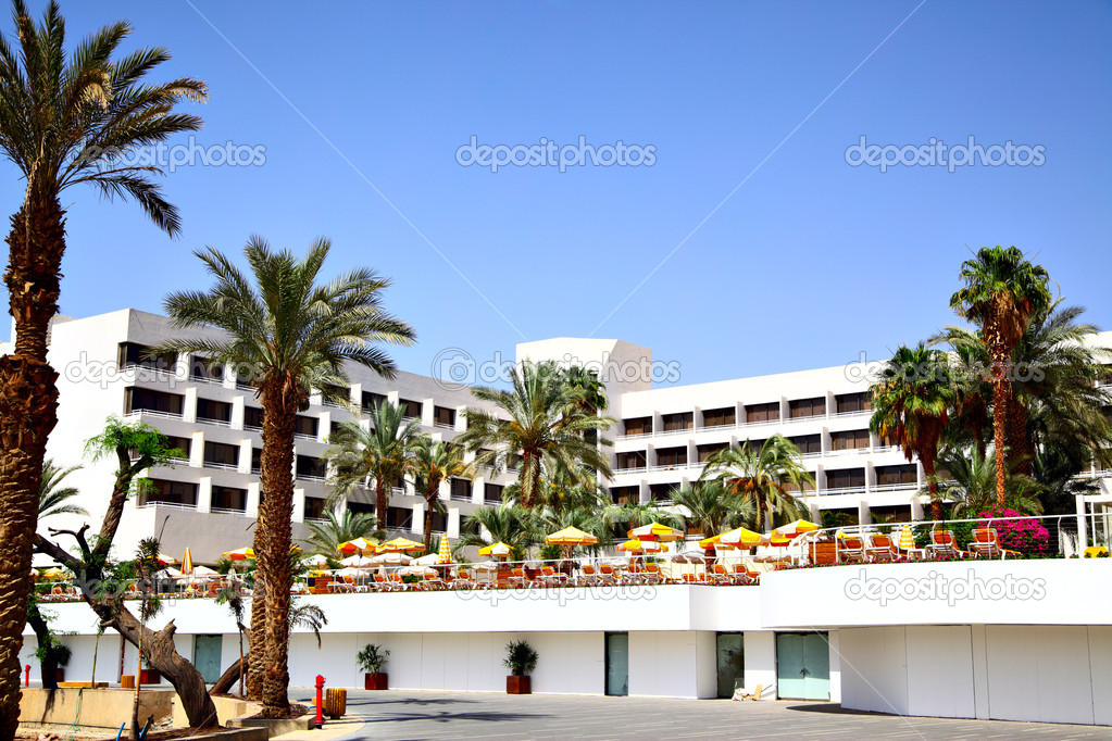 View of the nice modern luxury hotel  Stock Photo #1416906